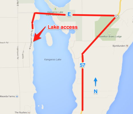 Map to Kangaroo Lake